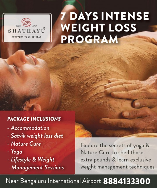 7 Days Intense Weight Loss Program Shathayu Ayurveda Yoga Retreat