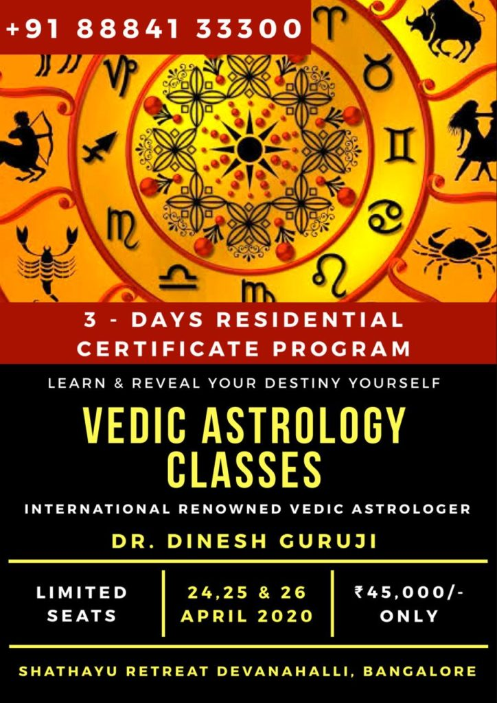 Residential Vedic Astrology Certificate Program Shathayu Ayurveda Yoga Retreat